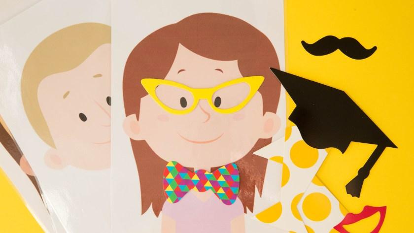 Occuper ses enfants avec des têtes à customiser | DIY