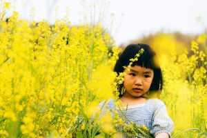 前髪パッツンの女の子の画像