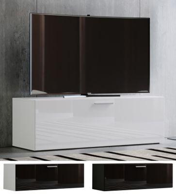tv lowboard fernsehtisch rack phono mobel tisch holz sideboard medienrack fernsehbank winalo breite 115 cm weiss vcm