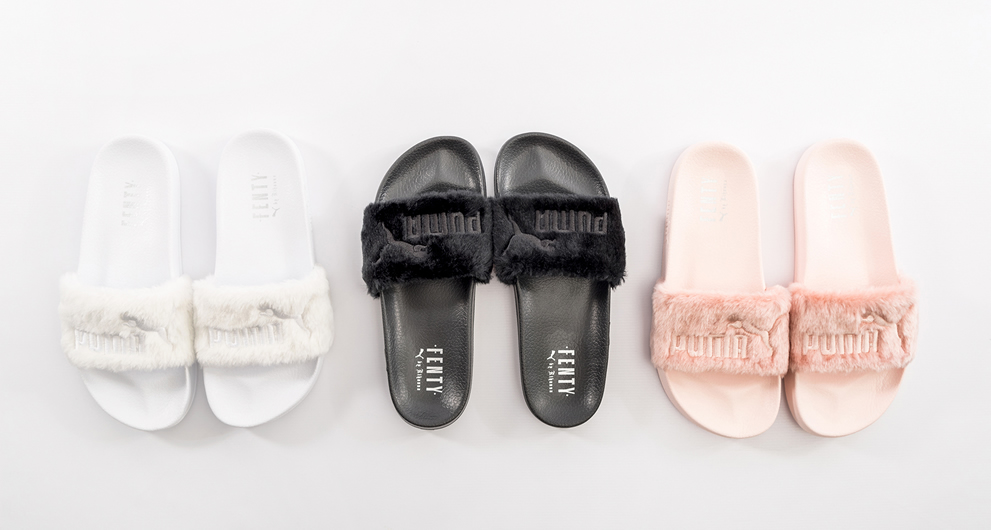 restock alert rihanna x puma fenty fur slides drops. Black Bedroom Furniture Sets. Home Design Ideas