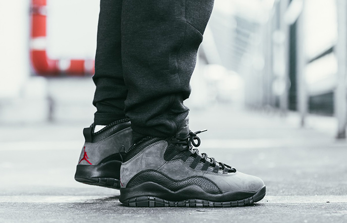 73159ccb5e1 Dressed in a Dark Shadow, Black and True Red colour scheme. This Air Jordan  10 will be a bit different from the original. Featuring a Dark Grey upper  paired ...