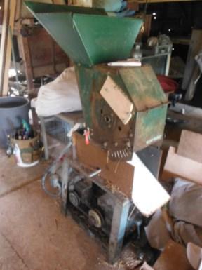 wood chipper turned threshing machine