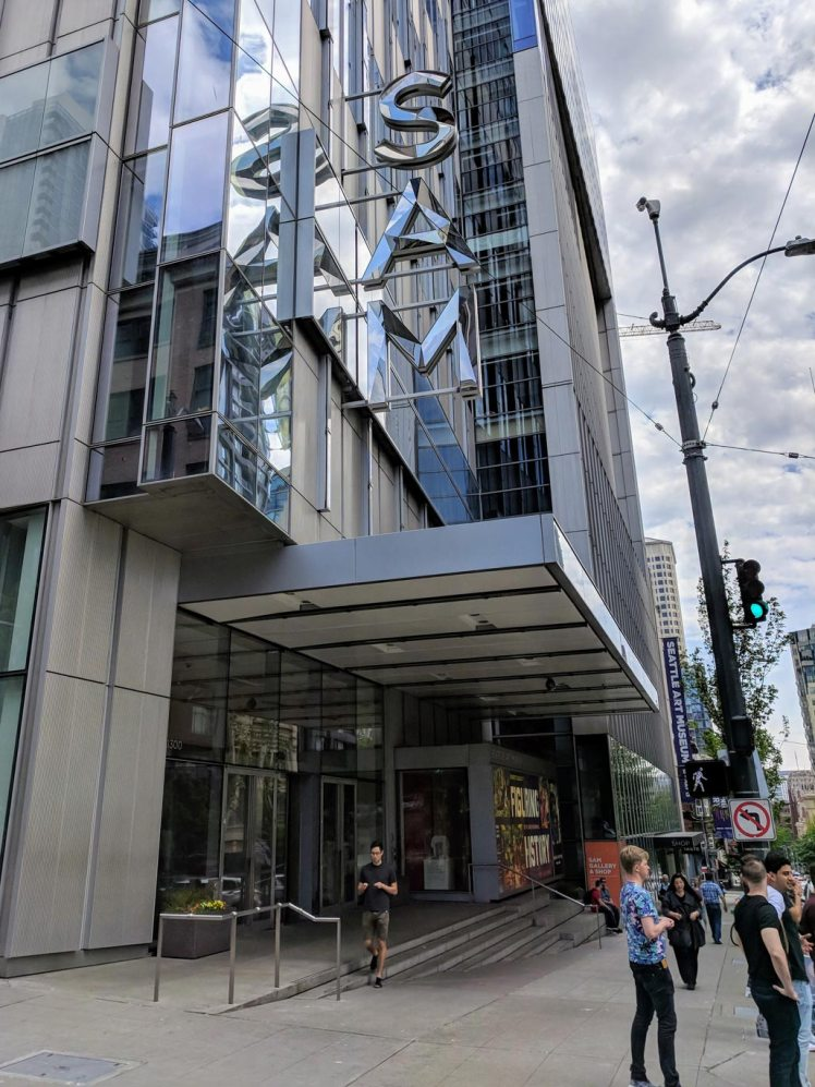 Exterior of the Seattle Art Museum on 1st Avenue
