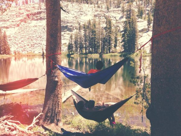 Eno hammocks, mountain lake, great times