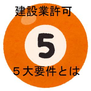 建設業許可の5大要件
