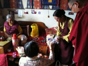 Offering Gifts to Amala and Grandfather