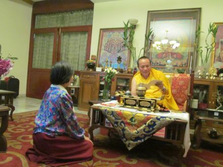 11_Dorje Palmo with H_H_Tai Situ Rinpoche