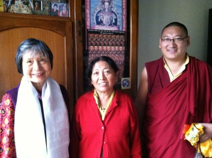 6. Dorje Palmo with Amala and Khenpo