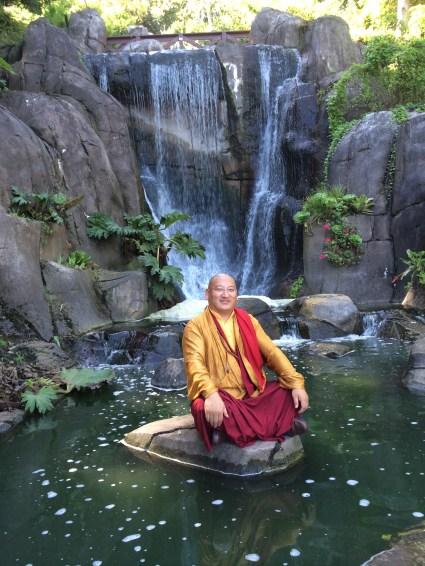Khenpo Gyurme in Park