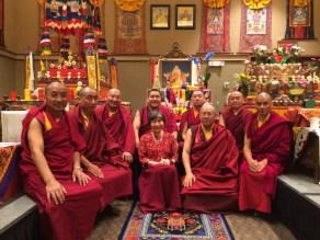 Dorje Palmo with Lamas