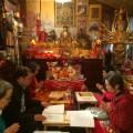 Chanting during Guru Rinpoche Tsok