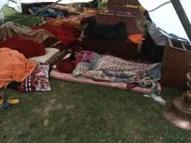 Monks Sleeping Outdoors