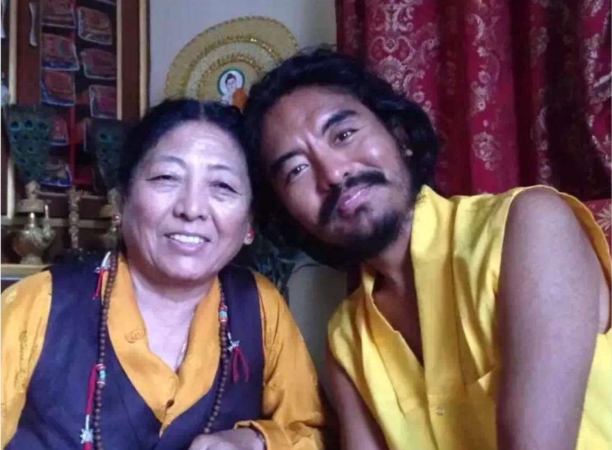 Rinpoche with Mother