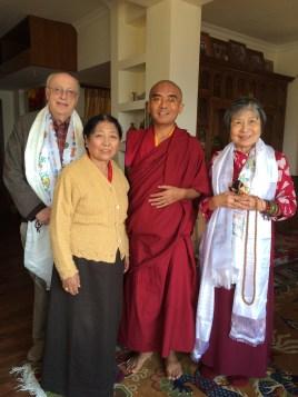 Rinpoche & Amala & Dorje Palmo & Dwayne