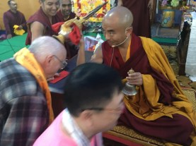 31 Receiveing Blessing at Amitabha Empowerment