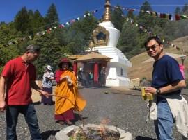 Finishing Fire Puja