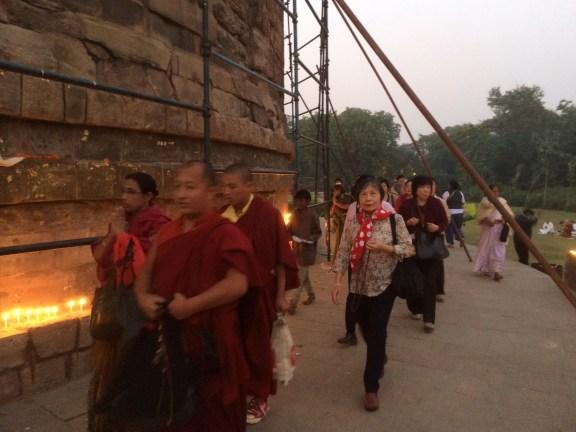 11 (Circumambulating Sarnath Stupa)