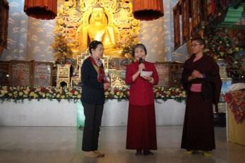 37 (Dorje Palmo Giving Talk to Lamas at Tergar)