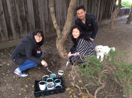 Justin Family Planting Worms
