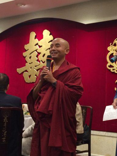 Rinpoche at Banquet