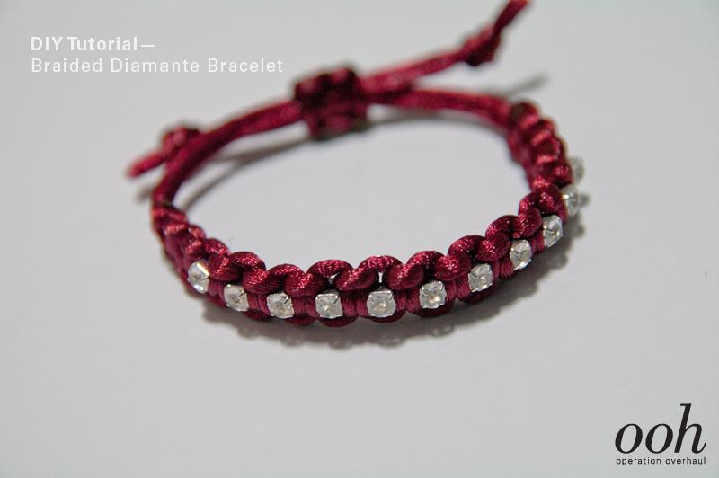 Braided Diamante Bracelet