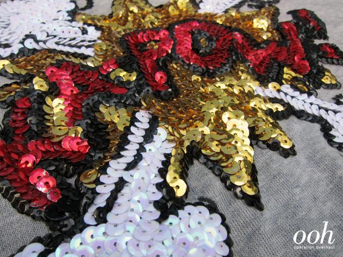 Operation Overhaul - Kapow Sequin Sweater Detail 2