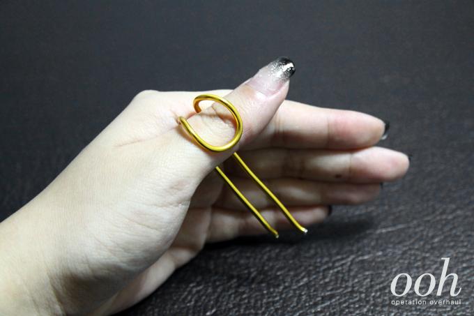 Operation Overhaul DIY Balenciaga Rings Step Two