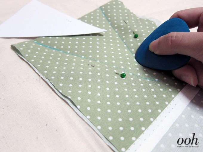 OOH - Fabric Buntings Tutorial Draw Triangles