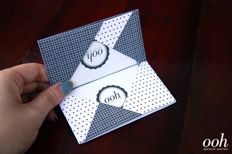 OOH - Origami Namecard Holder with Cards