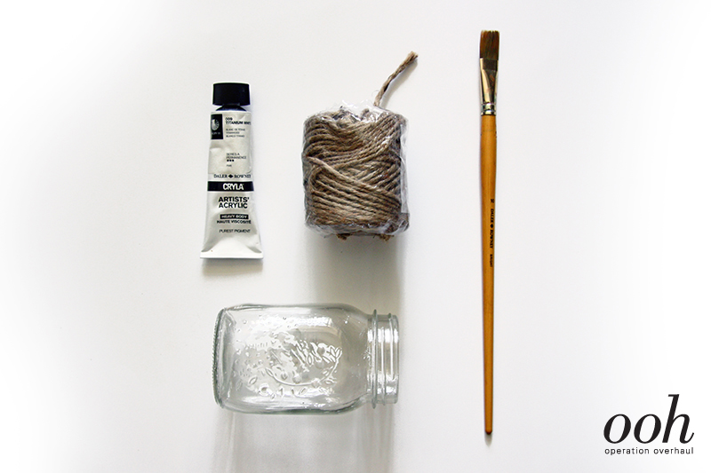 OOH - Upcycled Glass Jars Tutorial Materials