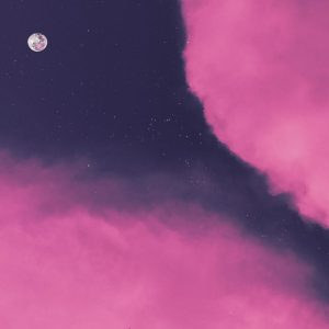 pink clouds during nighttime