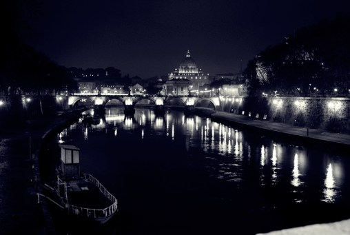 Bridge across the Tevere, Rome.