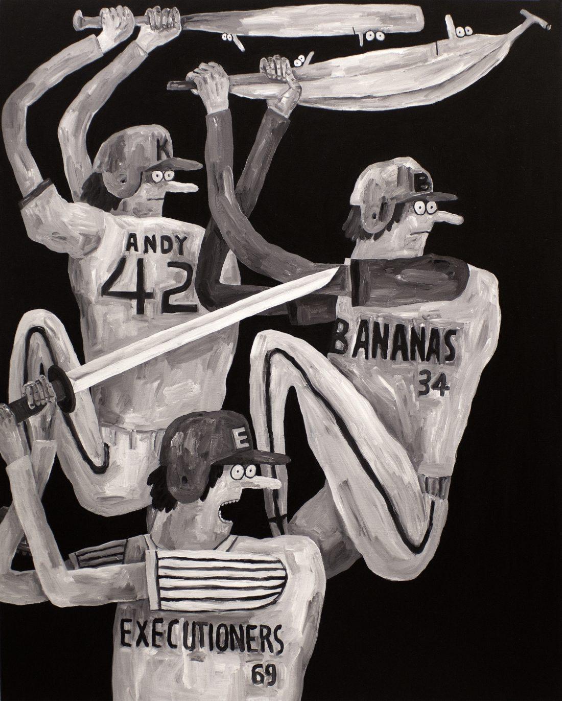 Hit, 2014, acrylic on canvas, 1,303x1,622mm