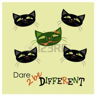 55940783-five-cats-one-different-from-the-others-vector-illustration