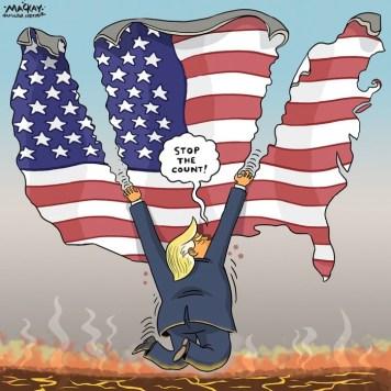Editorial Cartoon by Graeme MacKay, The Hamilton Spectator – Friday November 6, 2020