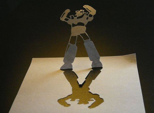 post-it papercraft