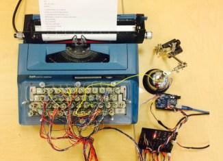 Machine à écrire transformé en imprimante