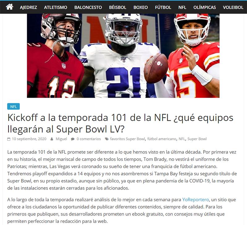Articulo Columna Deportiva