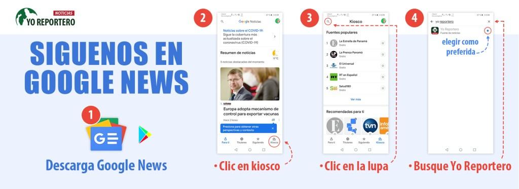 Sigue Yo Reportero en Google News