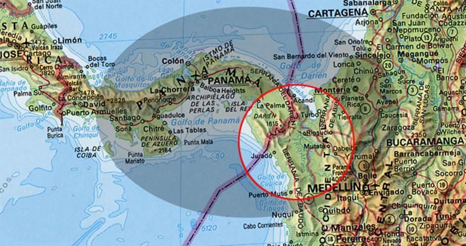 cruce de la selva de Darién, la selva fronteriza entre Colombia y Panamá que