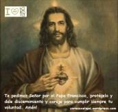 Oración por el papa Francisco_Sagrado Corazón de Jesús
