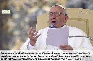 Papa Francisco palabras del 20062013 ante miembros de la FAO
