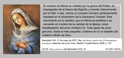 El corazón de María. Benedicto XVI