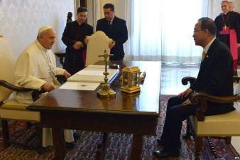Papa Francisco_audiencia_Ban Ki Moon