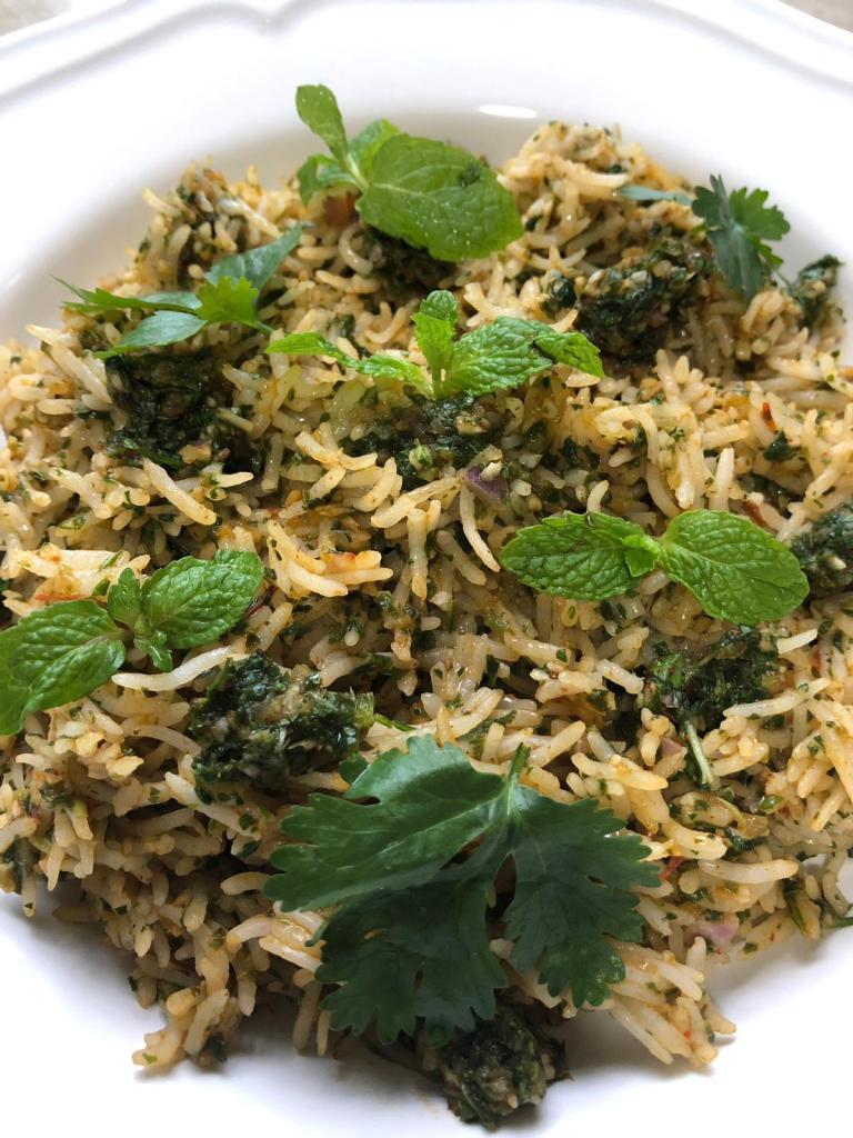 RawtoRipe: Mint-Coriander Rice