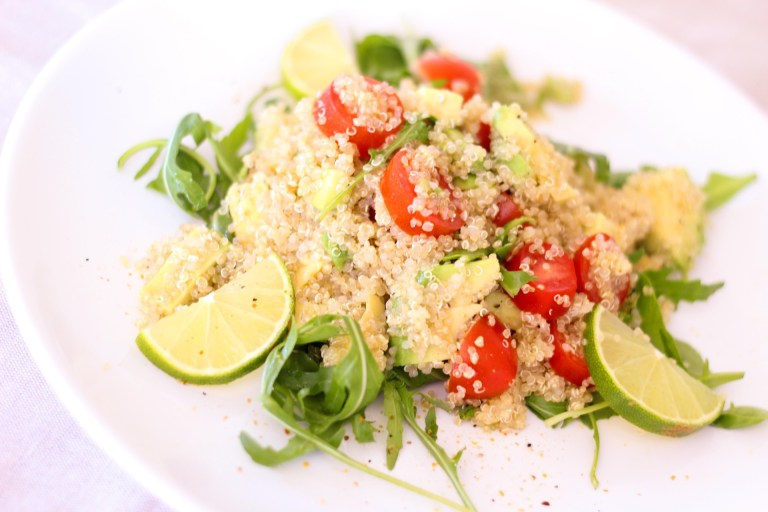 Healthy quinoa rice salad