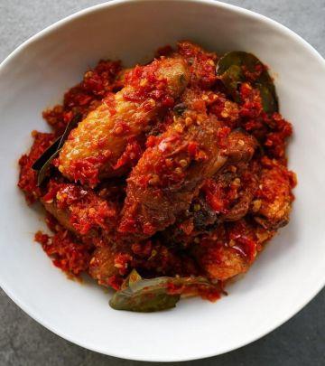 ayam goreng sambal chicken