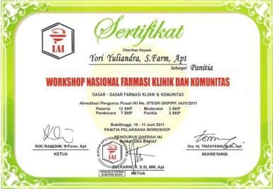 2011-06-10 - PANITIA WORKSHOP FARMASI KLINIK