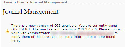 new version upgrade ojs open journal system available