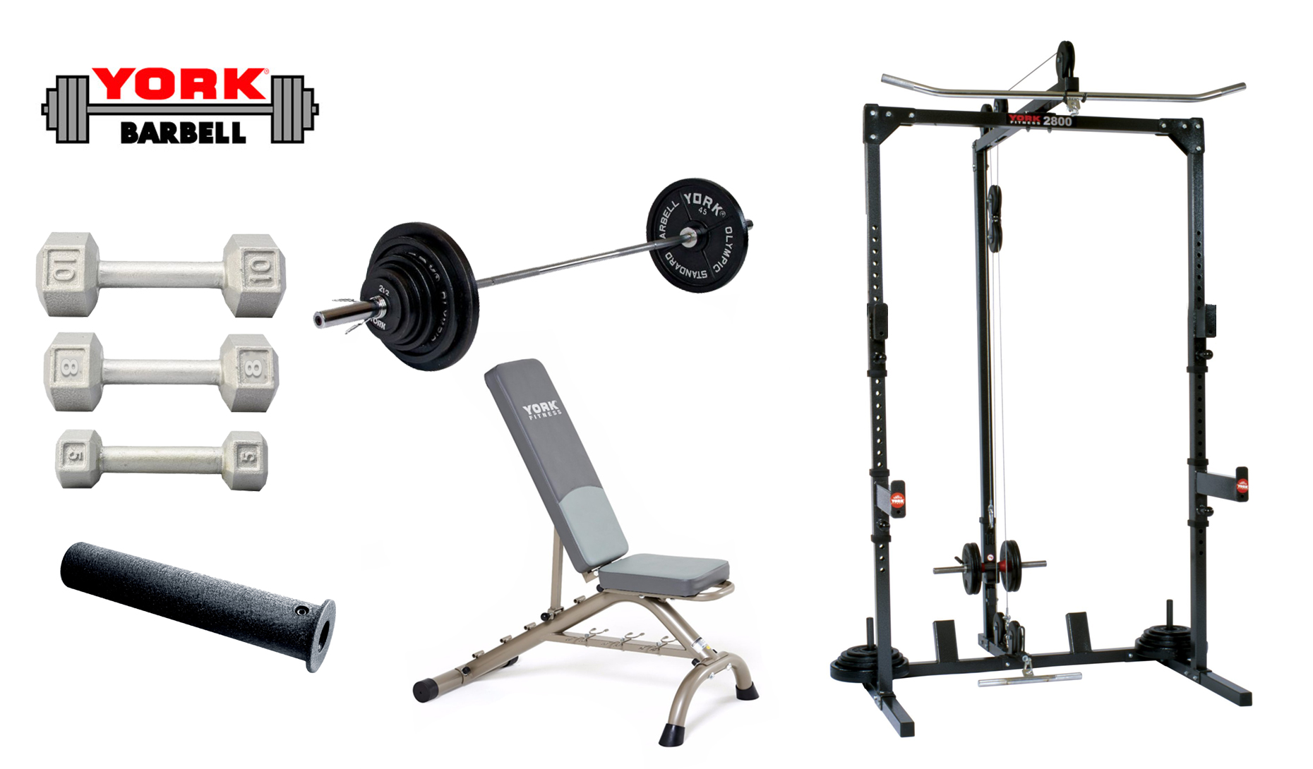 Basic Training Cage With Free Weight System York Barbell